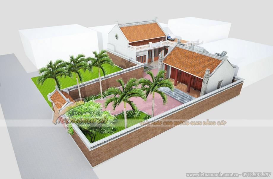 Thiết kế nhà thờ họ kết hợp nhà ở chuẩn phong thủy tại nam định