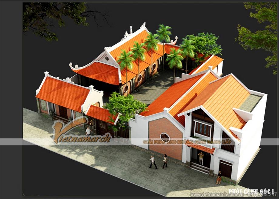 Thiết kế nhà thờ họ kết hợp nhà ở chuẩn phong thủy tại vĩnh phúc