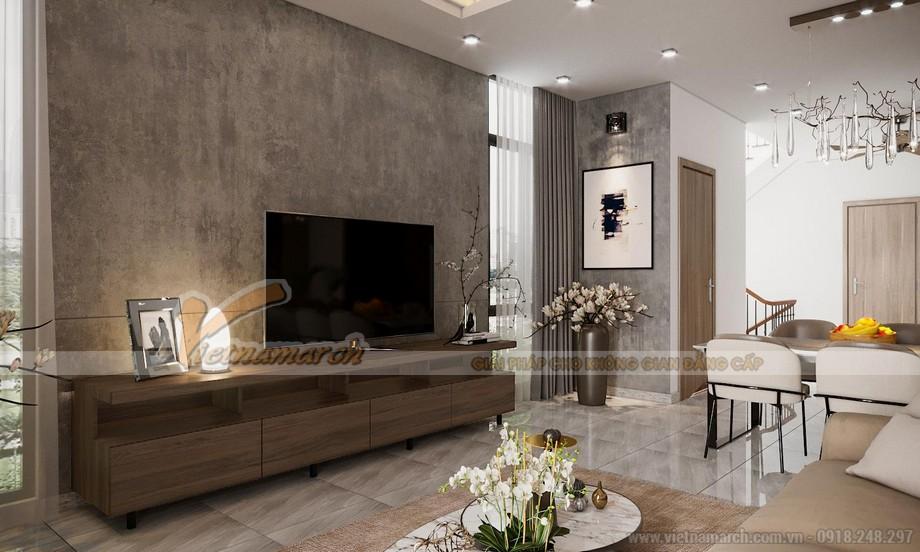 Thiết kế nội thất phòng khách với phối cảnh 3D cho nhà