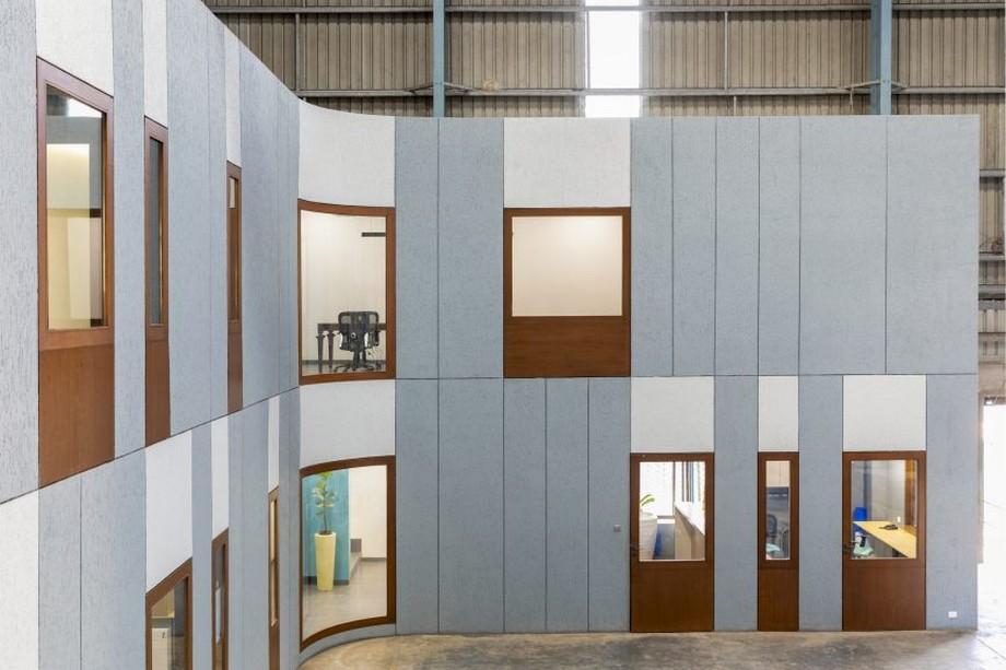 Thiết kế văn phòng kết hợp nhà máy đẹp, hiện đại