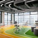 Thiên đường sắc màu cầu vồng trong dự án thiết kế văn phòng công ty thể thao Livesport