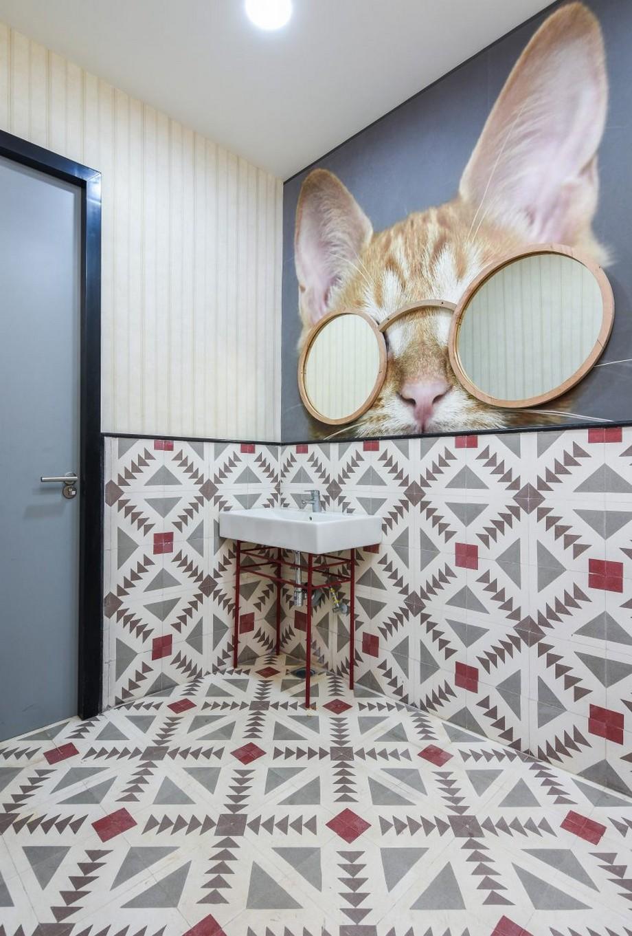 Thiết kế nội thất văn phòng theo phong cách đương đại với gam màu sắc bắt mắt