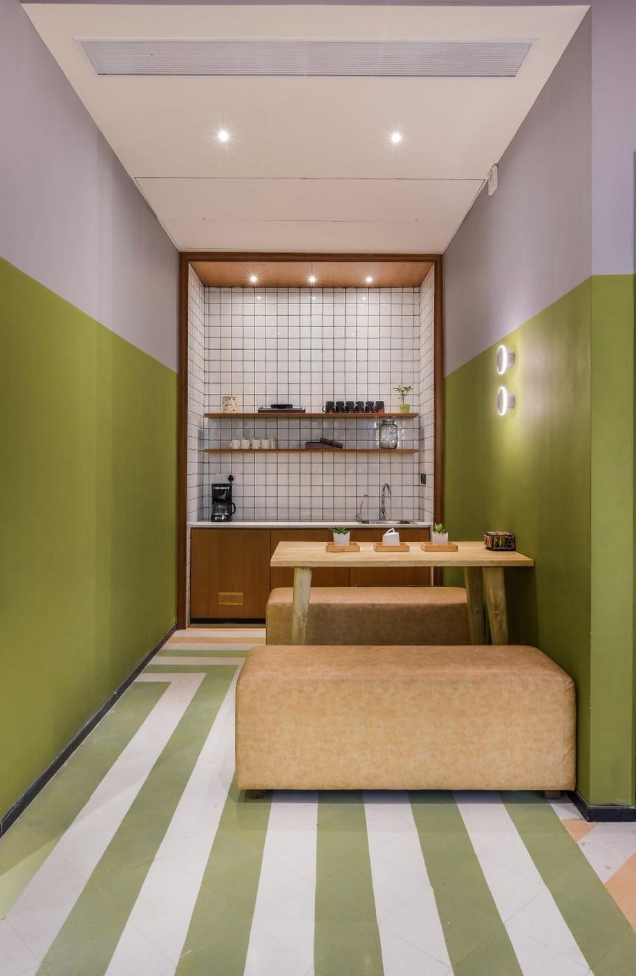 Thiết kế văn phòng đương đại bằng việc sử dụng vật liệu gỗ tự nhiên