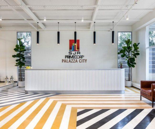 Thiên đường sọc màu kẹo nổi bật trong mẫu thiết kế nội thất văn phòng đương đại Line Office