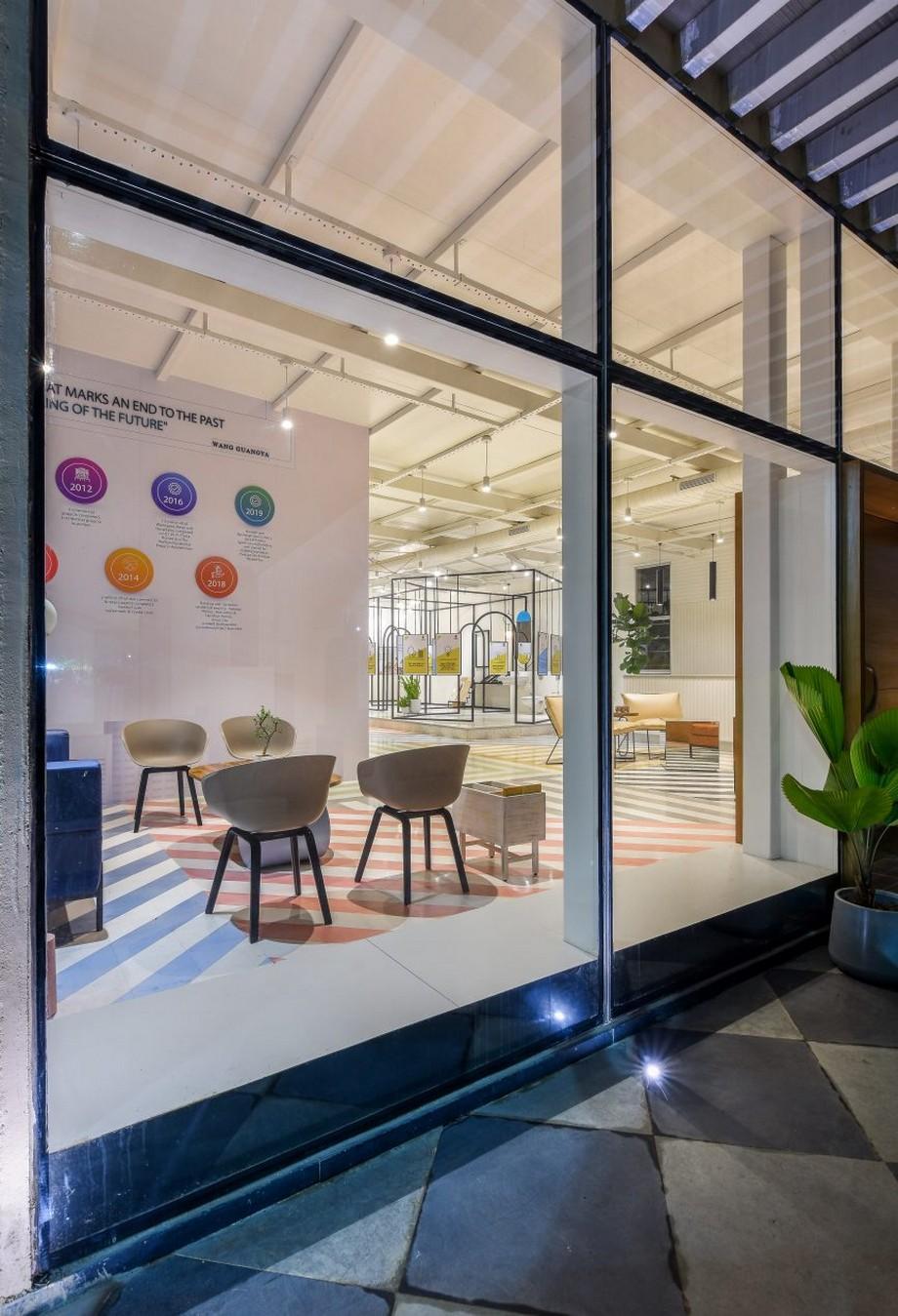 Thiết kế văn phòng đương đại sống động