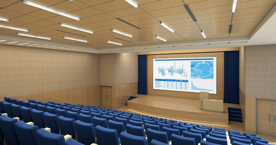 Tiêu chuẩn về diện tích phòng họp tính theo m2/người không sử dụng bàn họp