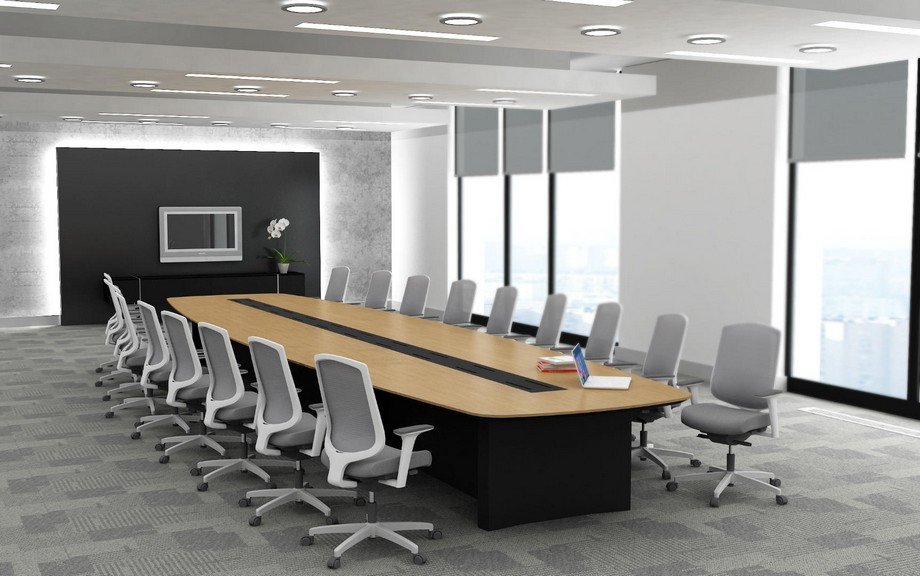 Tiêu chuẩn về diện tích phòng họp tính theo m2/người sử dụng bàn họp