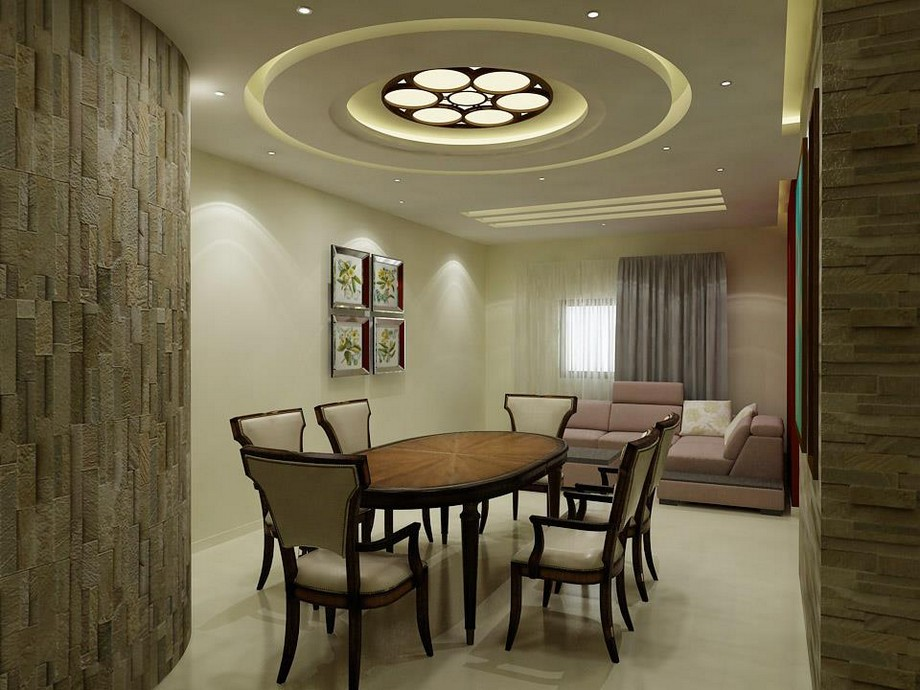 Trần thạch cao kết hợp gỗ CNC cho không gian phòng bếp