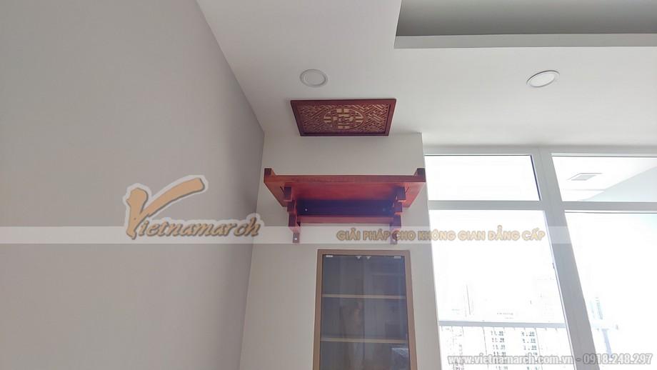 Bàn thờ treo BTT02 gỗ hương cho chung cư A10 Nam Trung Yên - Cầu Giấy