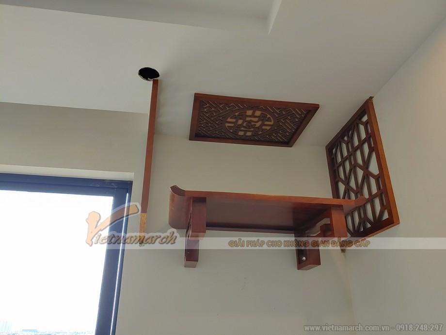mẫu bàn thờ treo gỗ mít cho chung cư
