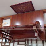 Hoá giải bàn thờ dựa vào tường nhà vệ sinh bằng vách ốp hậu cho gia chủ tại chung cư Hemesco Xa La