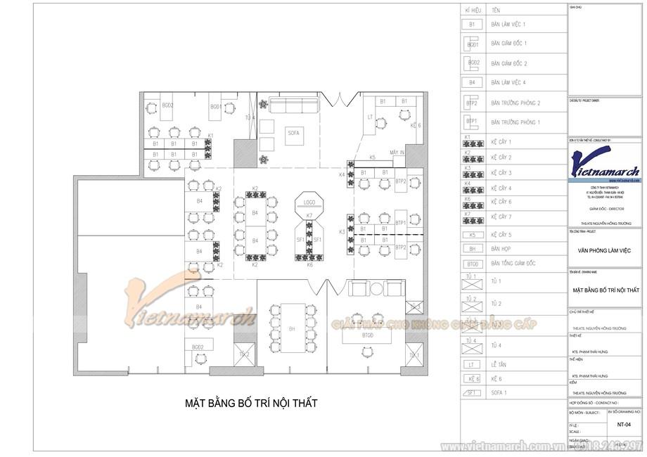 Bản vẽ mặt bằng tổng thể dự án văn phòng công ty bất động sản Bigstar