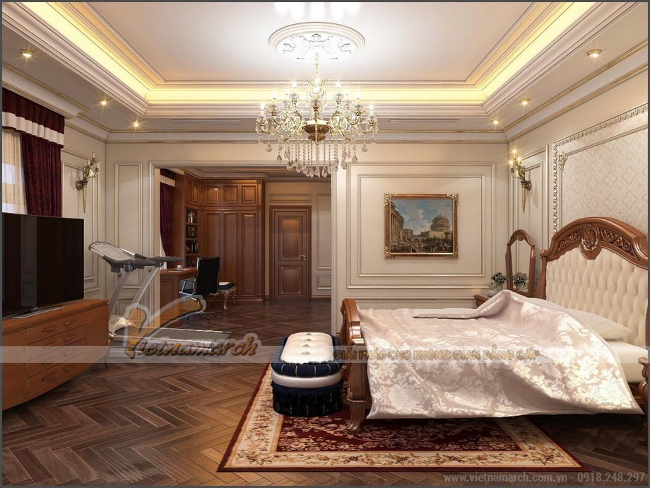 Nội thất phòng ngủ biệt thự hiện đại