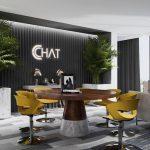 Bản vẽ thiết kế văn phòng 3D cho công ty thời trang CChat – Clothes Hà Nội