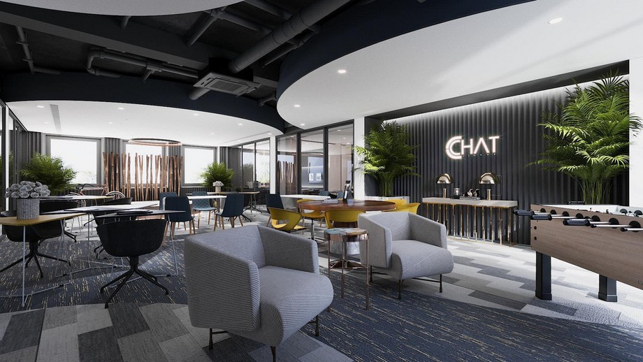 Bản vẽ thiết kế văn phòng 3D cho công ty thời trang CChat - Clothes