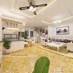 Dự án thiết kế nội thất biệt thự 3 tầng 1 tum tại Vĩnh Phúc