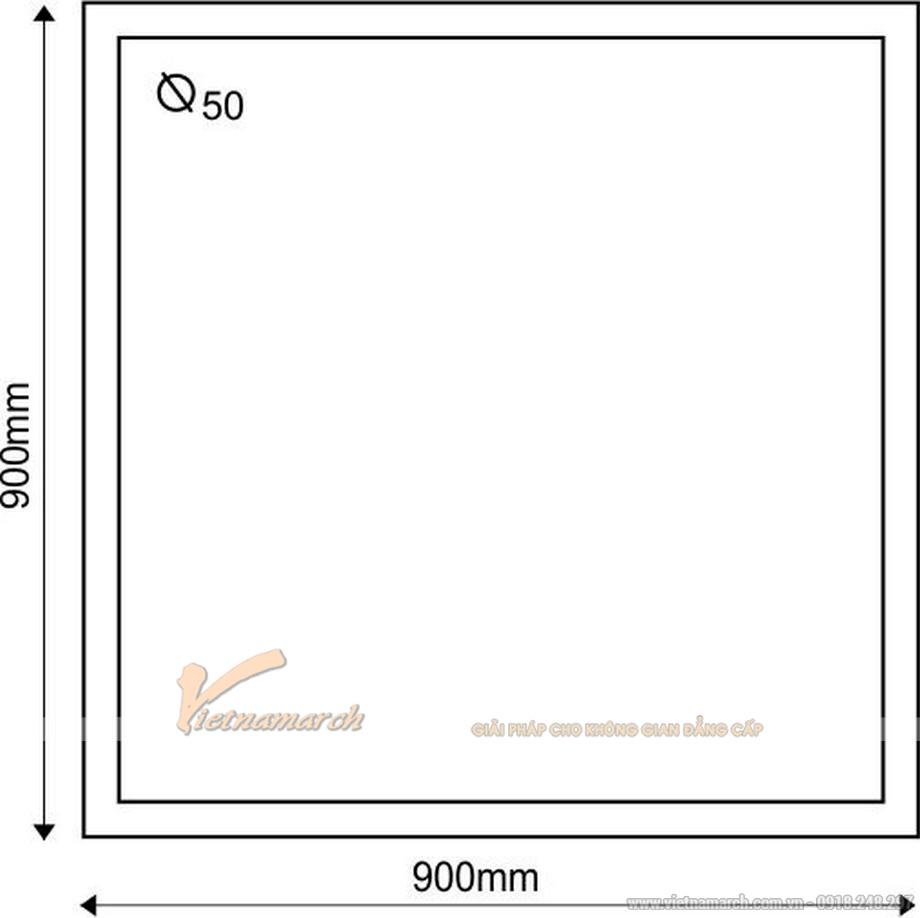 Kích thước bồn tắm đứng EUROCA SR-V900 hình vuông