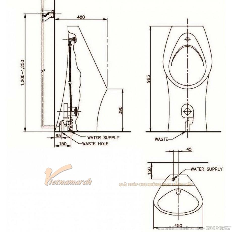 Kích thướcTiểu Nam Namh SVU24802000N01 Đặt Sàn
