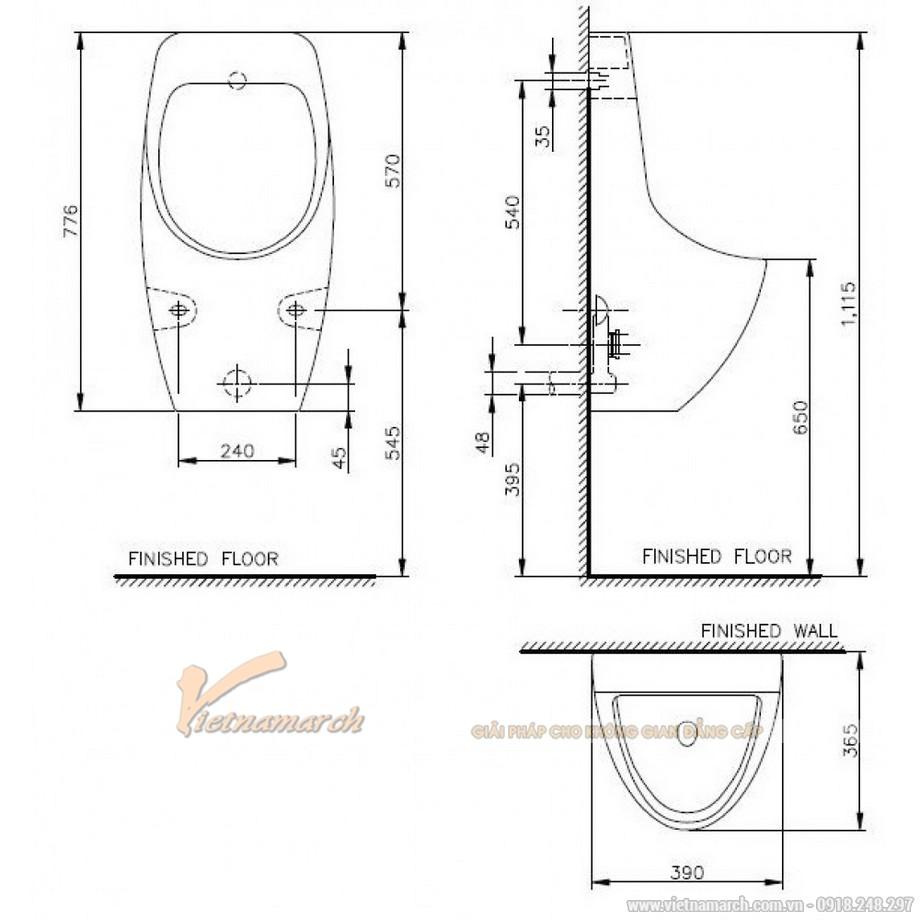 Kích thướcTiểu Nam Namh SVU23912000N01 Treo Tường