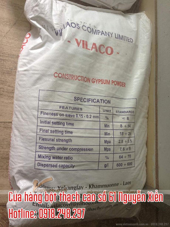 Bột thạch cao Lào Vilaco