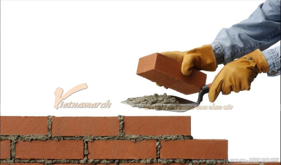 Cách xây tường 110