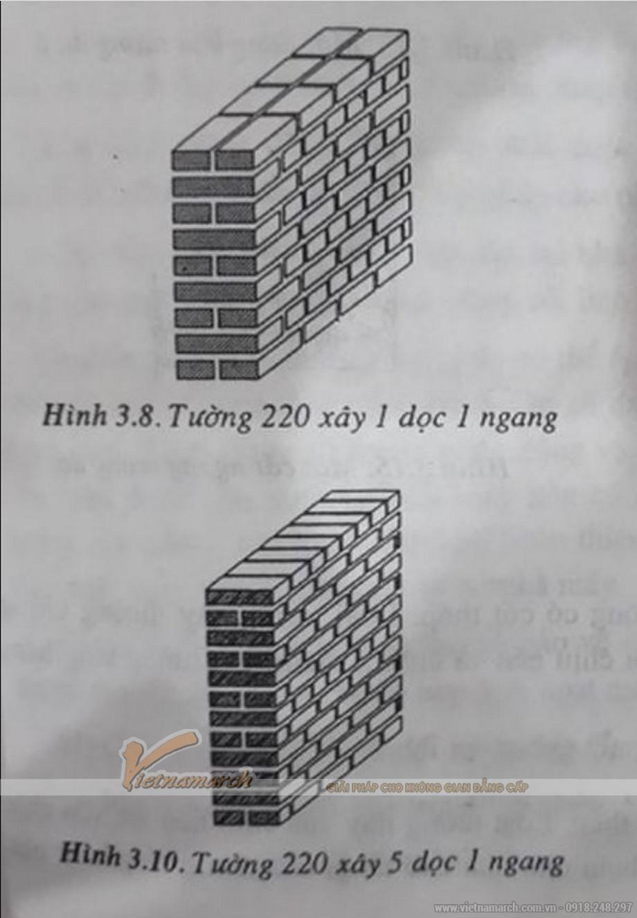 Cách xây tường 220