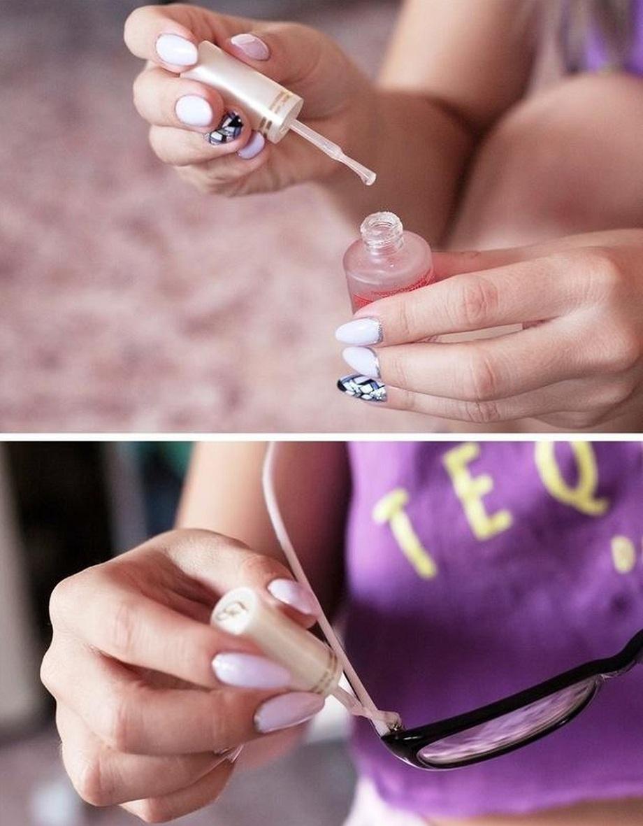 chữa xước kính bằng sơn móng tay