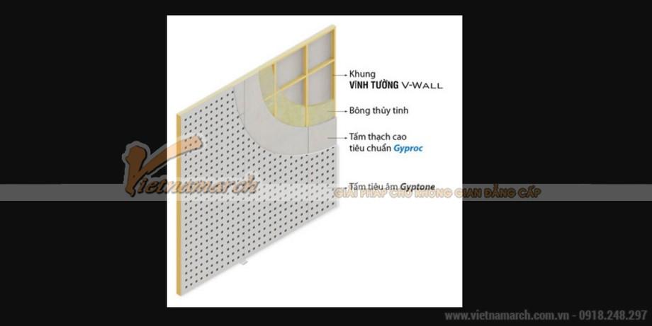 Cấu tạo hệ tường thạch cao tiêu âm