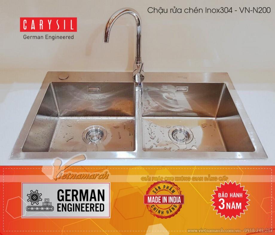 Chậu rửa đôi không bàn Carysil VN-N200-02