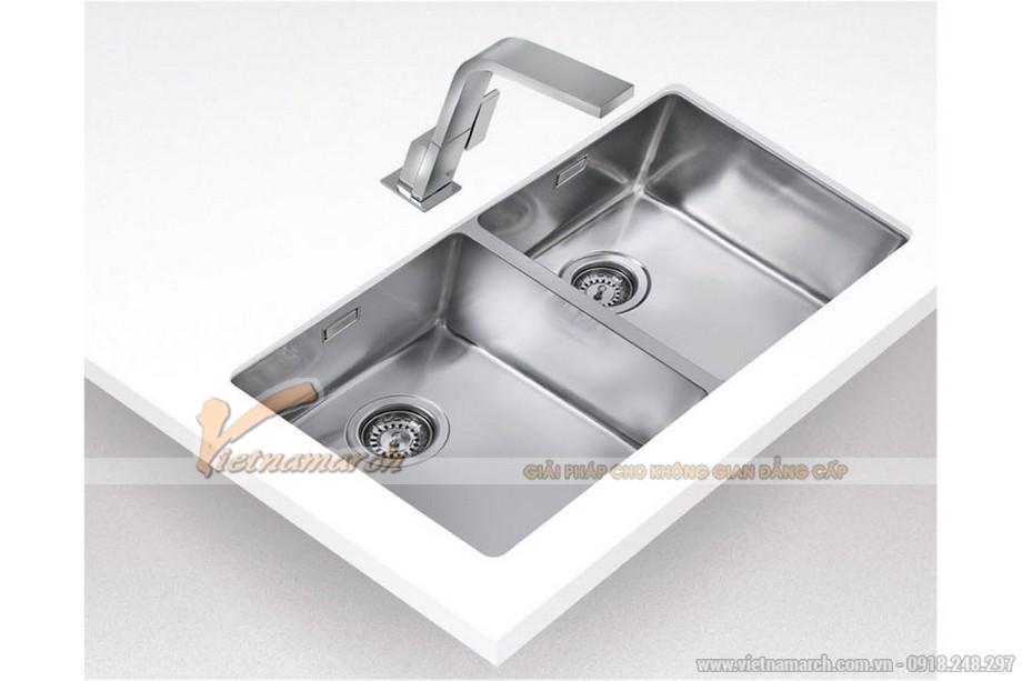 Chậu rửa đôi không bàn Teka LINEA-R15-2B-740