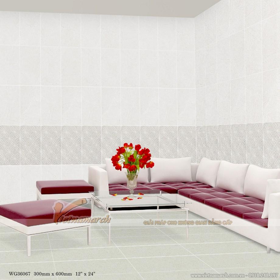 Kích thước gạch ốp tường phòng khách