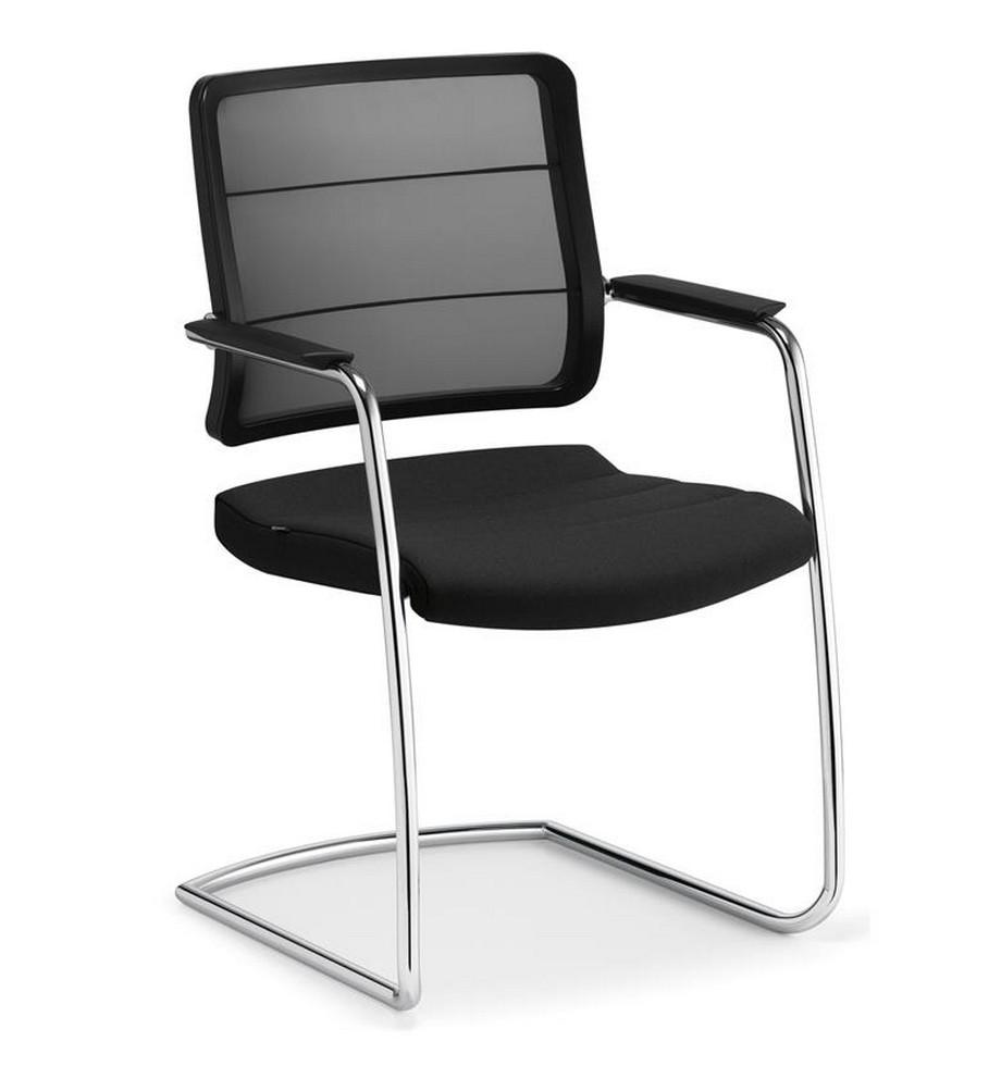 Mẫu ghế phòng họp chân quỳ đẹp