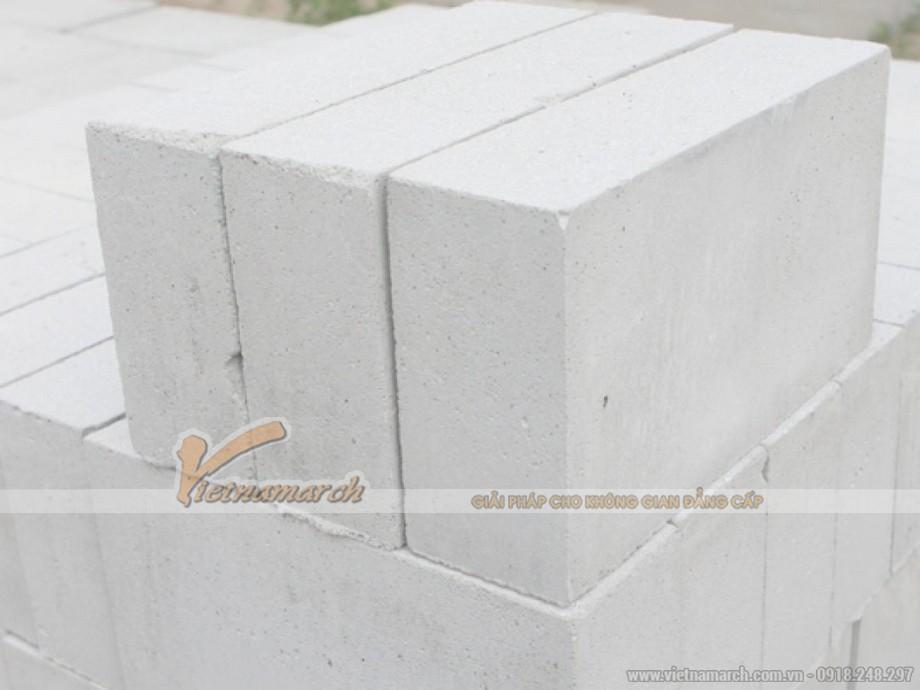 Kích thước gạch xây bê tông nhẹ