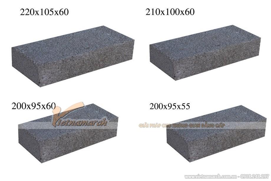 Kích thước gạch xây xi măng
