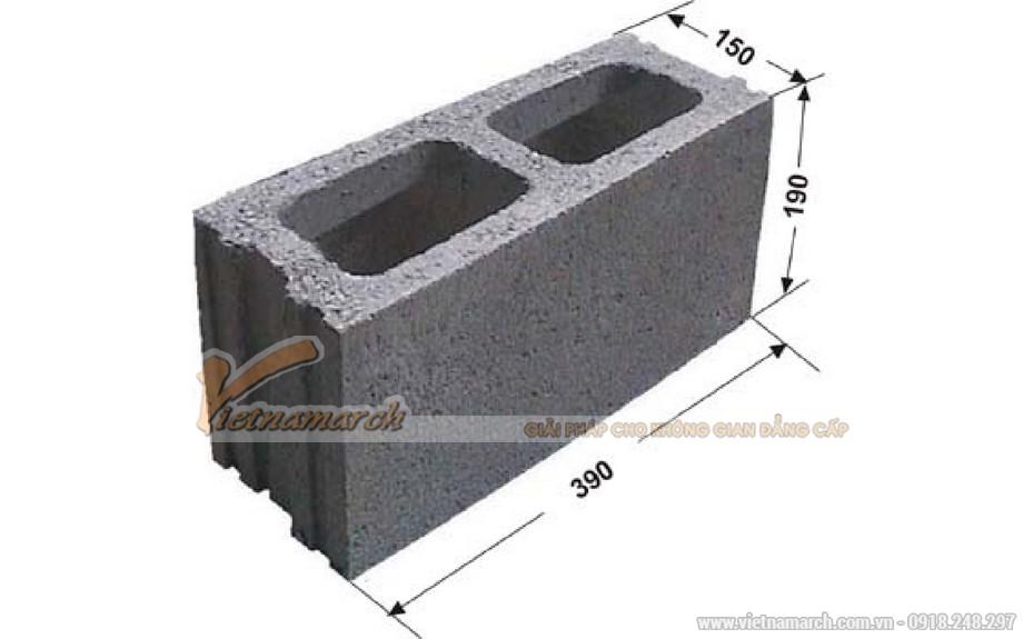 Kích thước gạch xây papanh