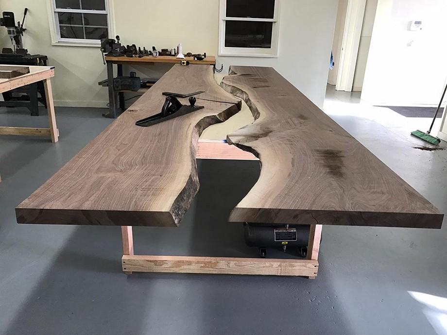 Mẫu bàn họp gỗ tự nhiên