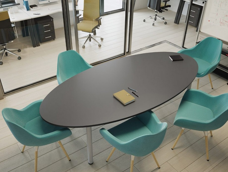 Mẫu bàn họp hình oval