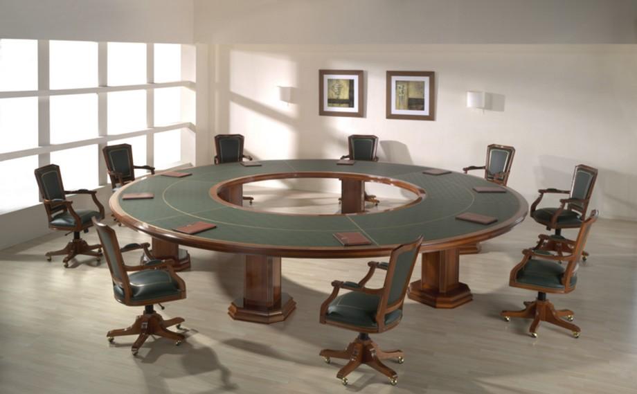 Mẫu bàn họp tròn đẹp