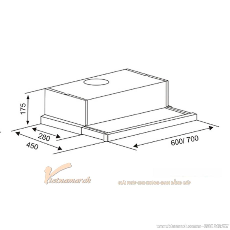 Máy hút mùi Canzy CZ 6002SYP âm tủ kích thước 60cm