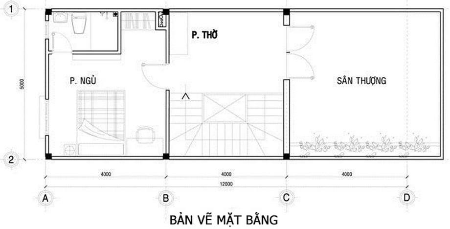 Nhà cấp 4 80m2 1 phòng ngủ