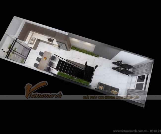 Thiết kế nhà ống 3 tầng tại Đống Đa