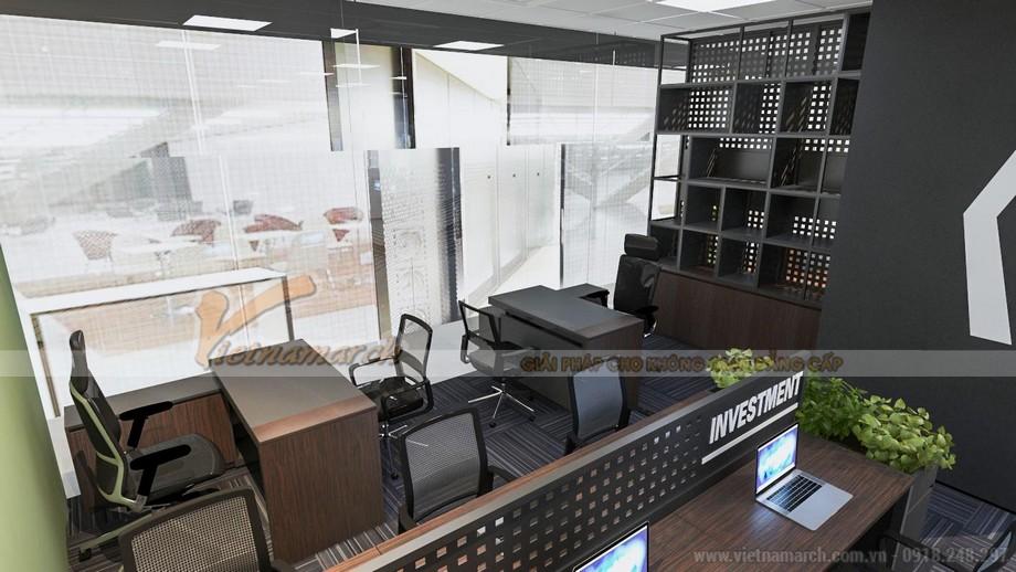 thiết kế thi công văn phòng công ty bất động sản Bigstar 150m2 tại tòa R6 Royal City