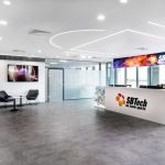 Phối cảnh nội thất văn phòng cho công ty công nghệ SBTech