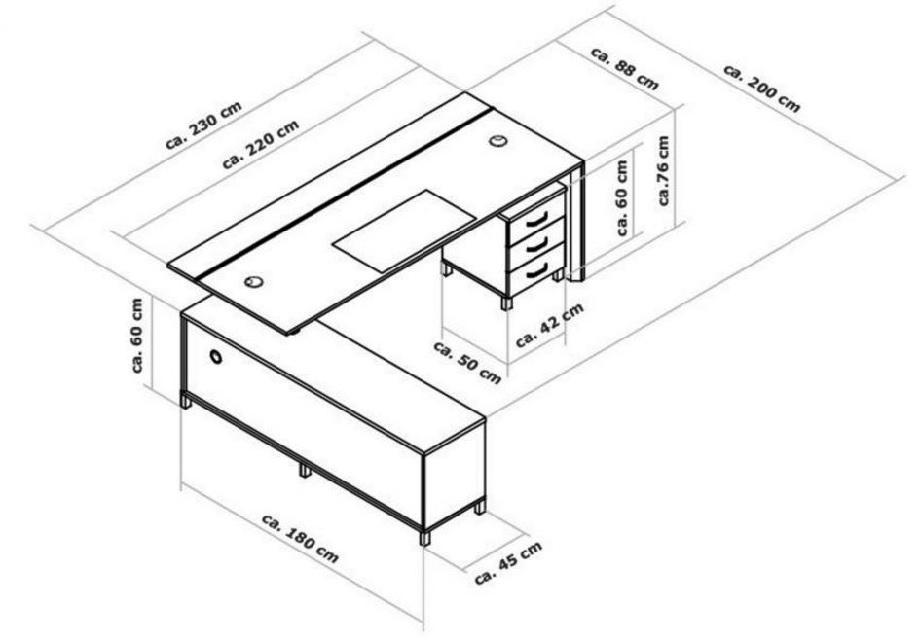Tiêu chuẩn về kích thước bàn giám đốc