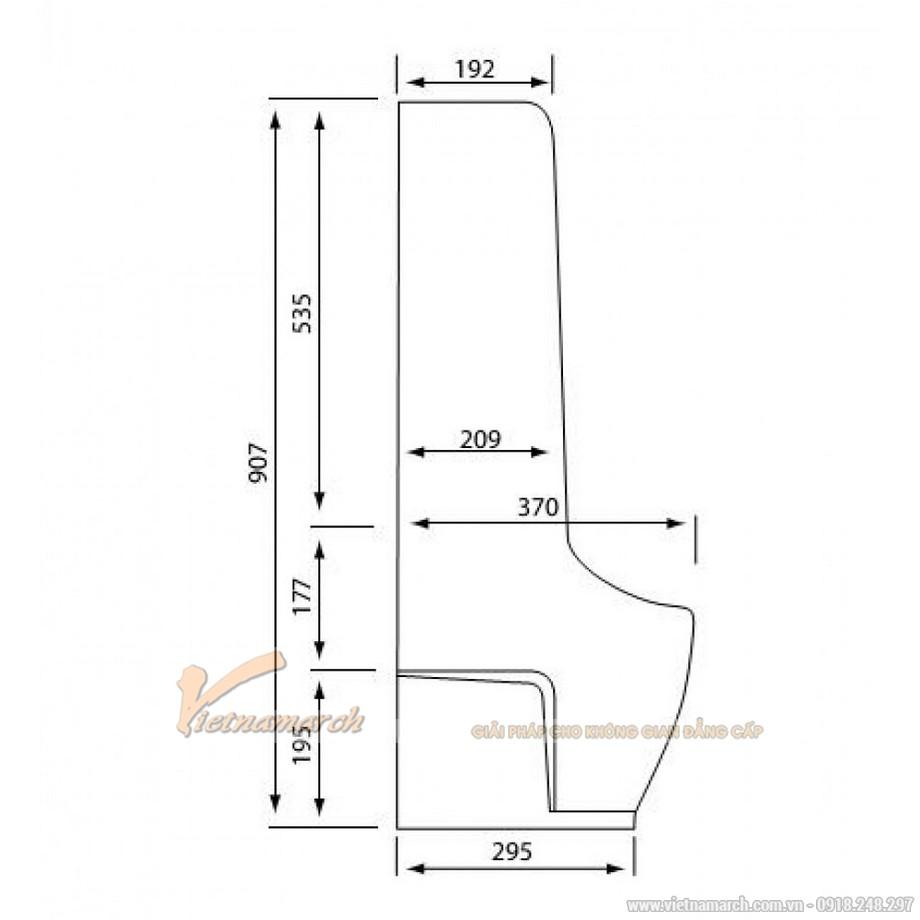 Kích thướcTiểu NamViglacera BS604 Đặt Sàn