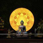 Tranh giấy dừa, tranh trúc chỉ Mandala nét đẹp tâm linh cho không gian phòng thờ