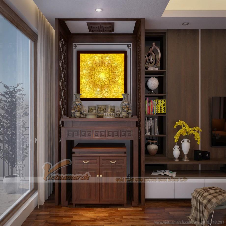 Tranh trúc chỉ, tranh giấy dừa Mandala được lắp đặt trực tiếp tại không gian phòng thờ