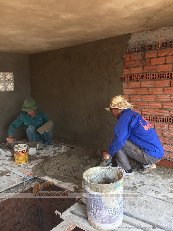 Trộn vữa trát tường