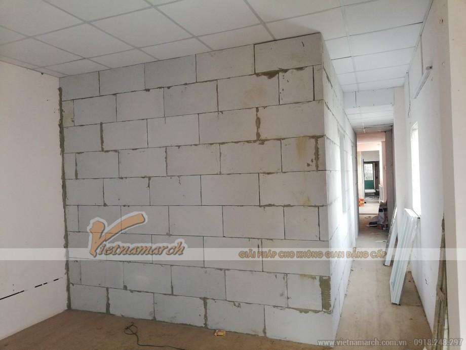 Xây tường chống cháy bằng gạch bê tông khí chưng áp