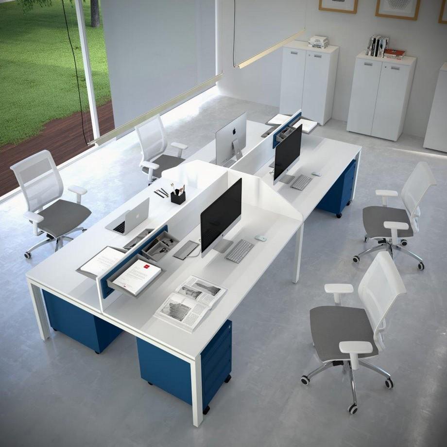 Mẫu bàn làm việc đẹp dành cho nhân viên văn phòng